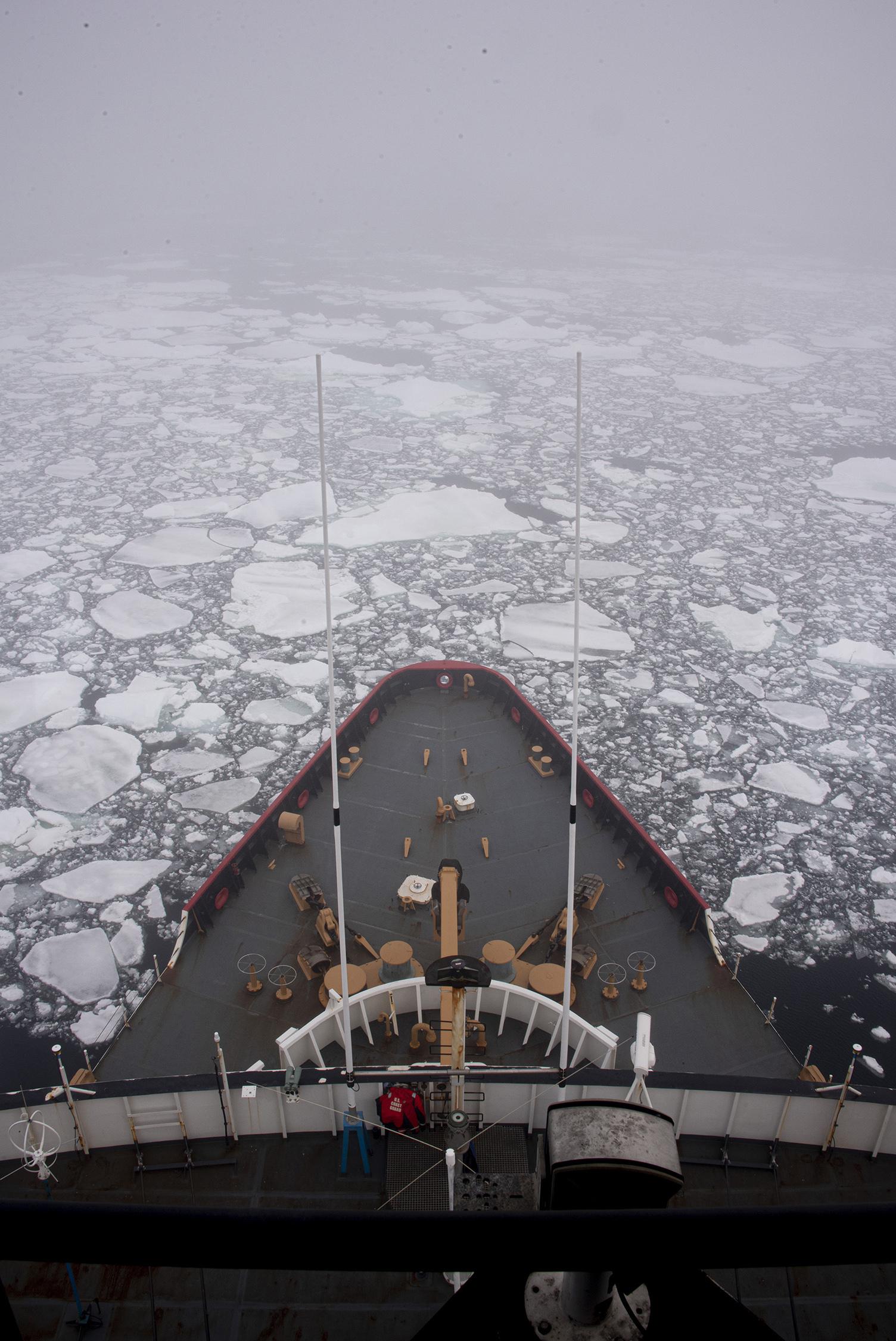 Coast Guard Icebreaker Polar Star Breaks Out McMurdo Station in Antarctica