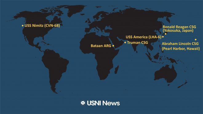 USNI News Fleet and Marine Tracker: Jan. 13, 2020