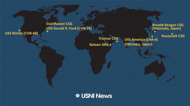 USNI News Fleet and Marine Tracker: Jan. 27, 2020
