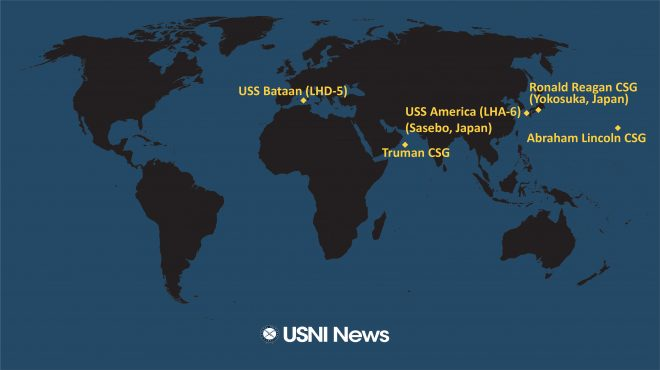 USNI News Fleet and Marine Tracker: Jan. 6, 2020