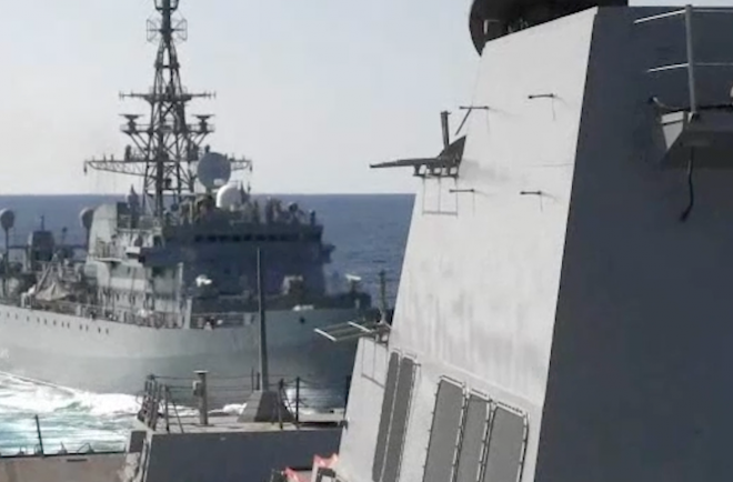 VIDEO: Russian Warship Takes 'Aggressive' Action Against U.S. Destroyer