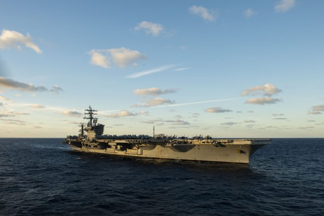 Carrier USS Dwight D. Eisenhower Operating in Red Sea