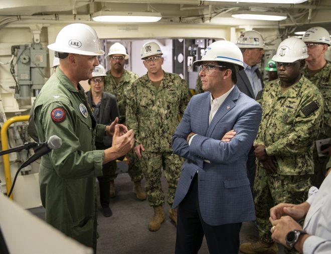 SECDEF Esper Faced Bipartisan Criticism Over 'Anemic' Shipbuilding Plan
