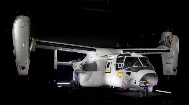 Bell-Boeing Delivers First CMV-22B to Navy for COD Mission