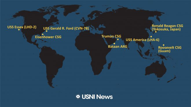 USNI News Fleet and Marine Tracker: Feb. 10, 2020