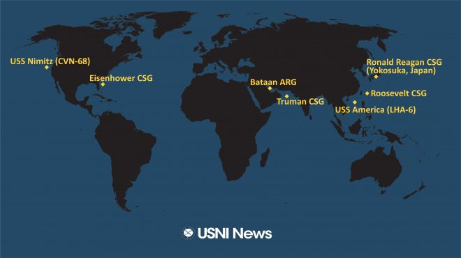 USNI News Fleet and Marine Tracker: Feb. 18, 2020