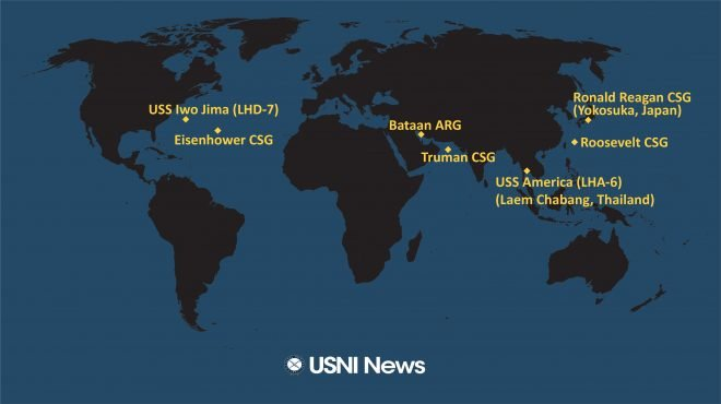 USNI News Fleet and Marine Tracker: Feb. 24, 2020