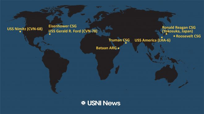 USNI News Fleet and Marine Tracker: Feb. 3, 2020
