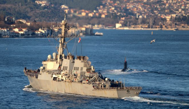 VIDEO: USS Ross Enters Black Sea, Movements Monitored by Russia
