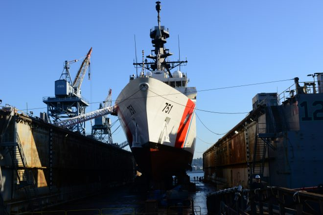 Coast Guard Struggling to Get Ships Repaired as Navy Expands Use of Smaller Yards
