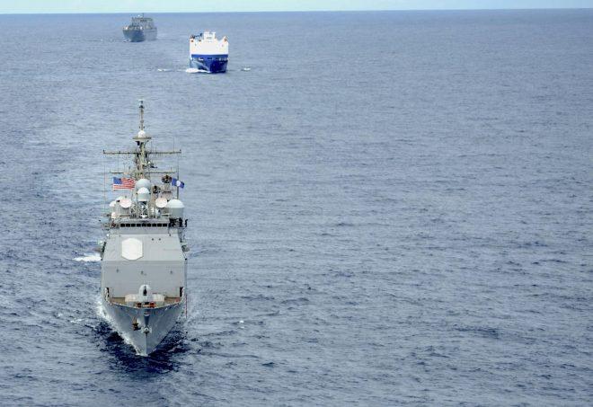 Cruiser USS Vella Gulf Returns to Norfolk After Suffering Damage in Heavy Seas
