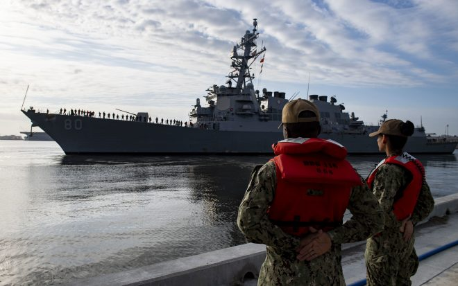 USS Roosevelt Leaves for Homeport Shift to Spain