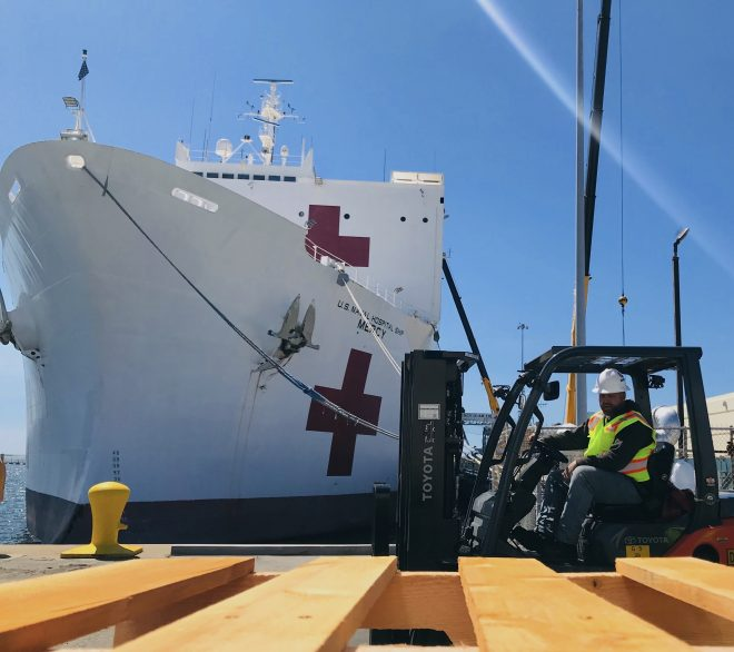 UPDATED: Hospital Ship Mercy Departs San Diego for Los Angeles
