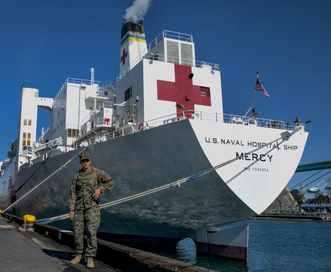 Hospital Ship Mercy No Longer Treating Patients, Remains in L.A. for COVID-19 Support