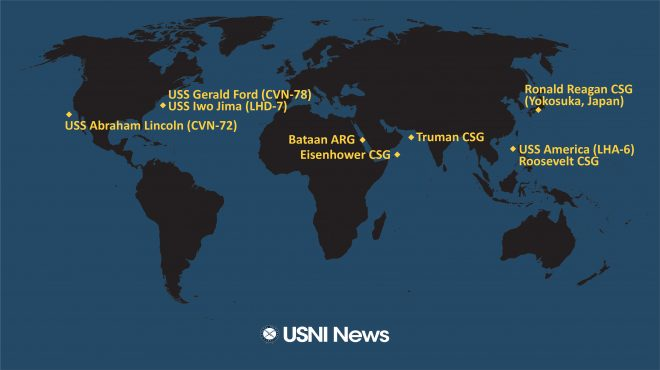 USNI News Fleet and Marine Tracker: March 16, 2020