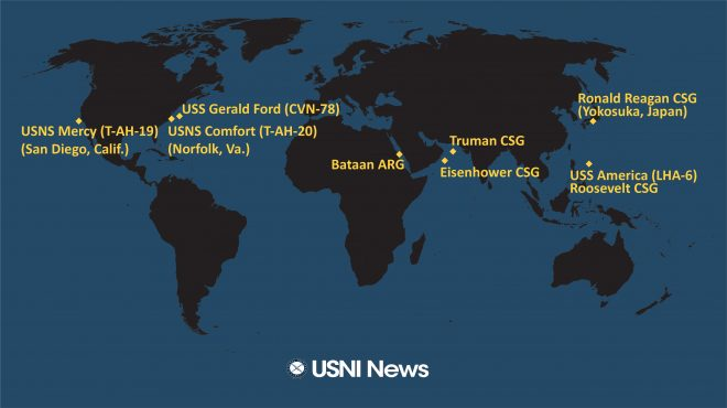 USNI News Fleet and Marine Tracker: March 23, 2020