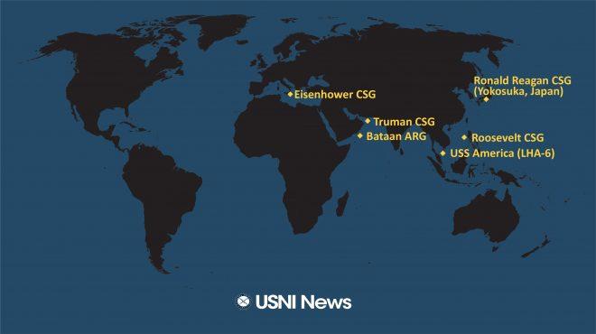 USNI News Fleet and Marine Tracker: March 2, 2020