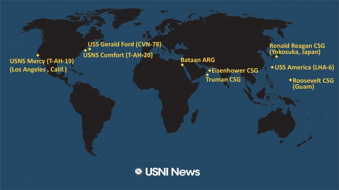 USNI News Fleet and Marine Tracker: March 30, 2020