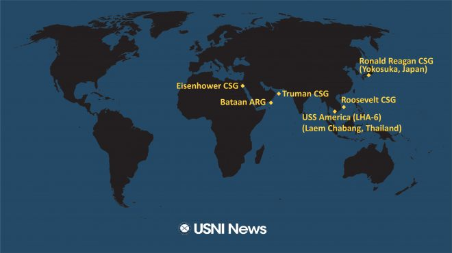 USNI News Fleet and Marine Tracker: March 9, 2020