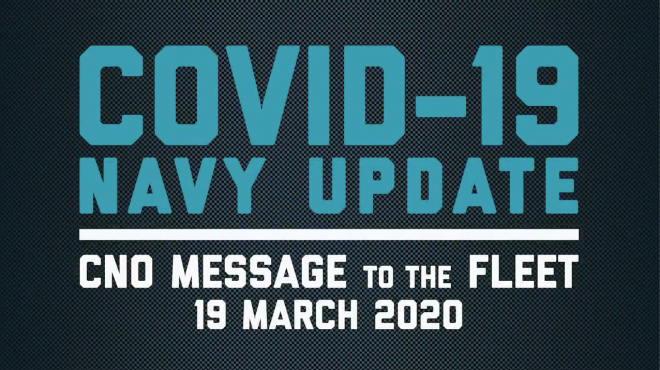 VIDEO: CNO Message to the Fleet on Coronavirus