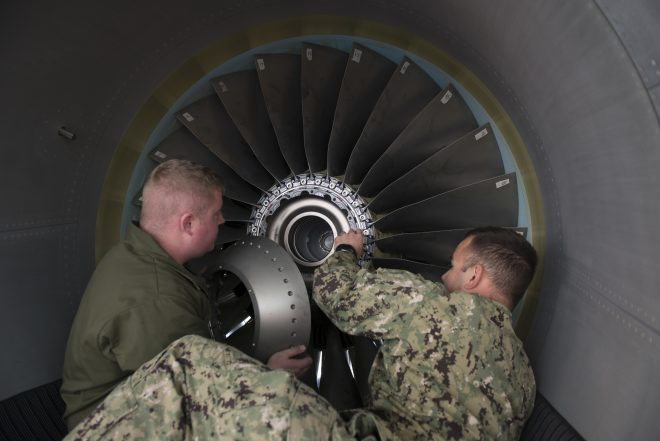 Navy Looking to Buy Aircraft Engines as Civilian Demand Dwindles