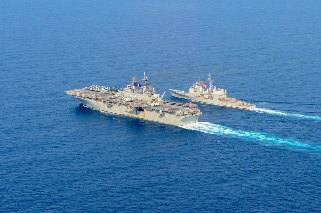 China Issues Muted Response to U.S. Warships Near South China Sea Standoff