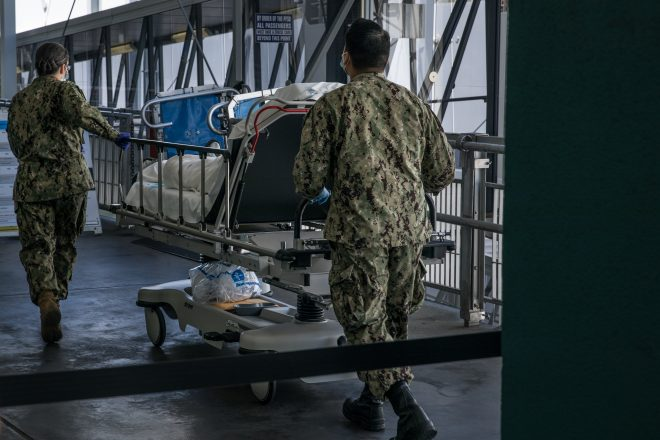 Patients Start Arriving On Navy Hospital Ships; Medical Officials Expect More Transfers For Care in NYC, LA