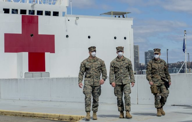 UPDATED: COVID-19 Patients Accidentally Transferred to Hospital Ship Comfort; Pentagon Easing Rules on Patients Treated