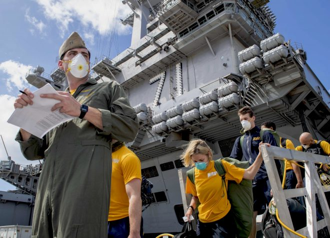 Navy, CDC to Study COVID-19 Outbreak on Carrier Theodore Roosevelt