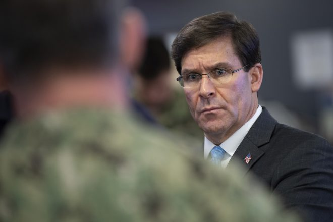 SECDEF Esper Extends Pentagon 'Stop Movement' Order Until Late June