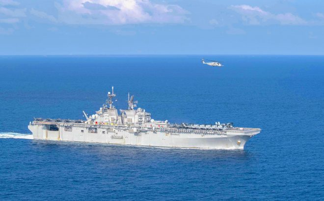 USS America Now Steaming Near South China Sea Standoff