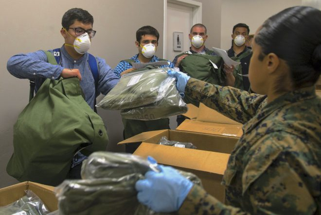 Marines Suffer COVID-19 Outbreak at San Diego Boot Camp