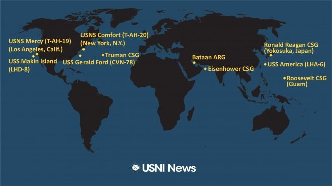 USNI News Fleet and Marine Tracker: April 13, 2020