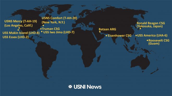 USNI News Fleet and Marine Tracker: April 20, 2020