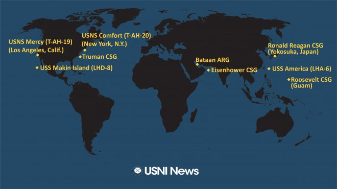 USNI News Fleet and Marine Tracker: April 27, 2020