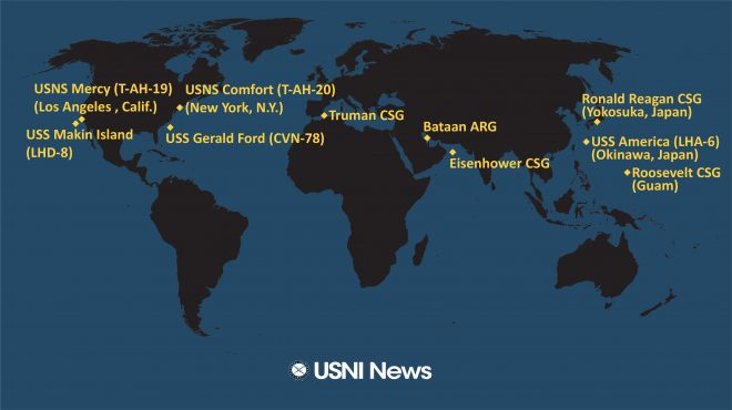 USNI News Fleet and Marine Tracker: April 6, 2020