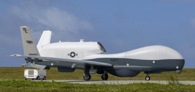 Navy MQ-4 Triton Flying Operational Missions From Guam