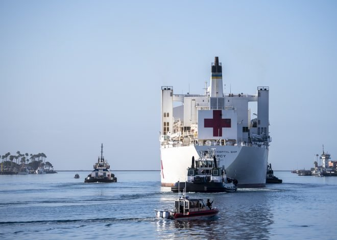 USNS Mercy Leaves Los Angeles After Treating 77 Patients; Some Personnel Will Remain in L.A.