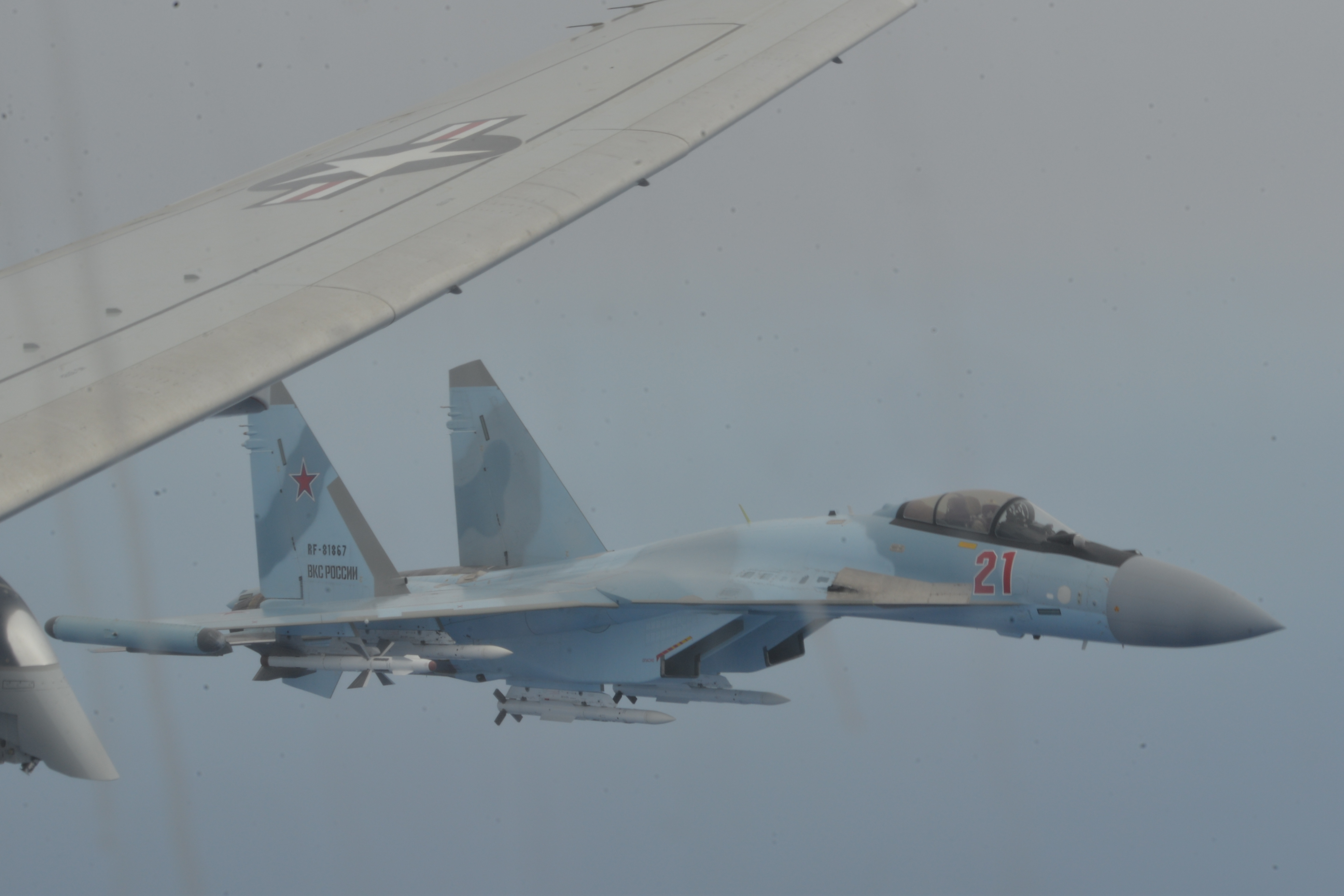 Two Russian Fighter Jets Intercept U.S. Reconnaissance Plane Over the Mediterranean Sea Provoking Navy Fury at 'Unsafe' Maneuver