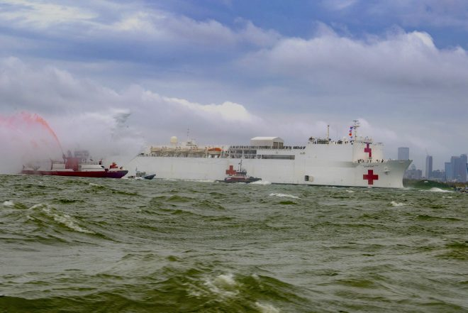 Hospital Ship Comfort Set to Arrive in Norfolk on Saturday After New York Mission