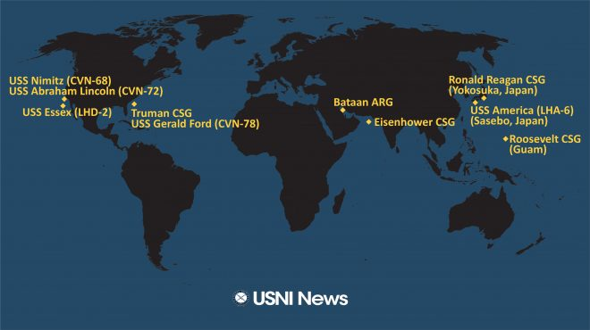 USNI News Fleet and Marine Tracker: May 18, 2020