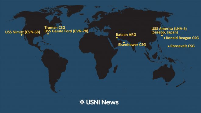 USNI News Fleet and Marine Tracker: May 25, 2020