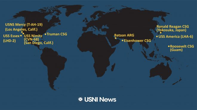 USNI News Fleet and Marine Tracker: May 4, 2020