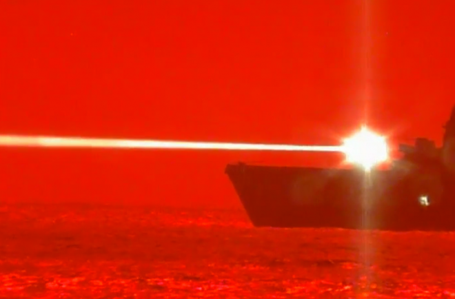 VIDEO: USS Portland Fires Laser Weapon, Downs Drone in First At-Sea Test