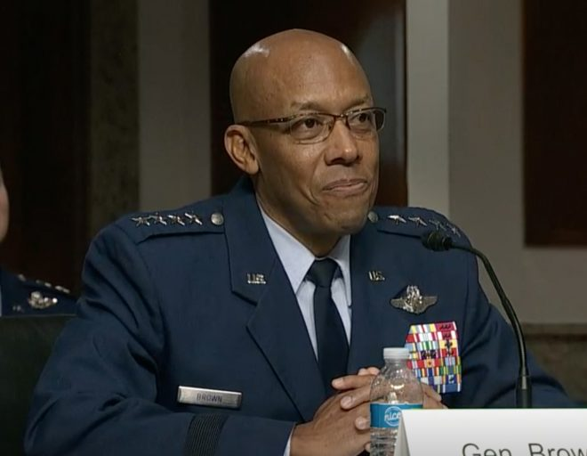 Incoming Air Force Chief Gen. Brown Focused on China, New Maritime Weapons