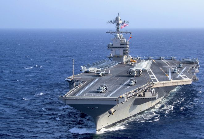 USS Gerald Ford EMALS Launching System Suffers Fault During Testing Period