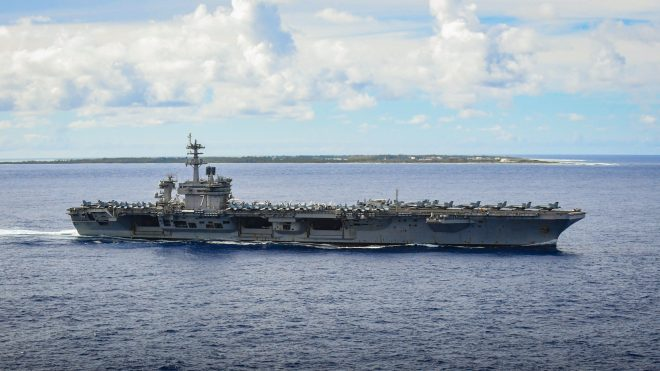 Several Ships Conducting Search and Rescue for Possible Man-Overboard from USS Theodore Roosevelt