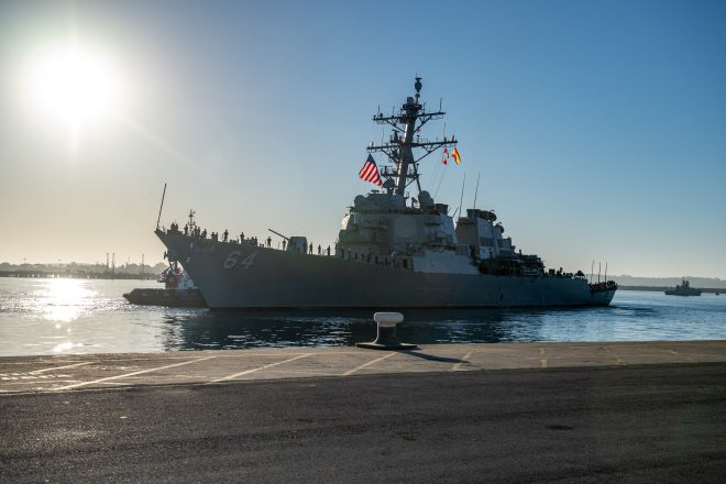 USS Carney Departs Rota, Returns to Florida After 5 Years In Forward-Deployed DDG Fleet