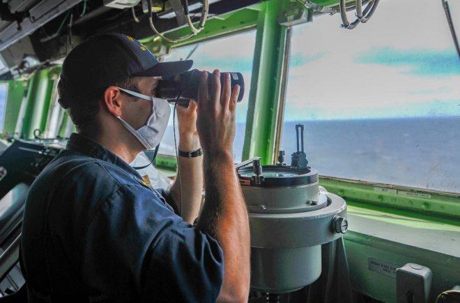 USS Russell Transits Taiwan Strait