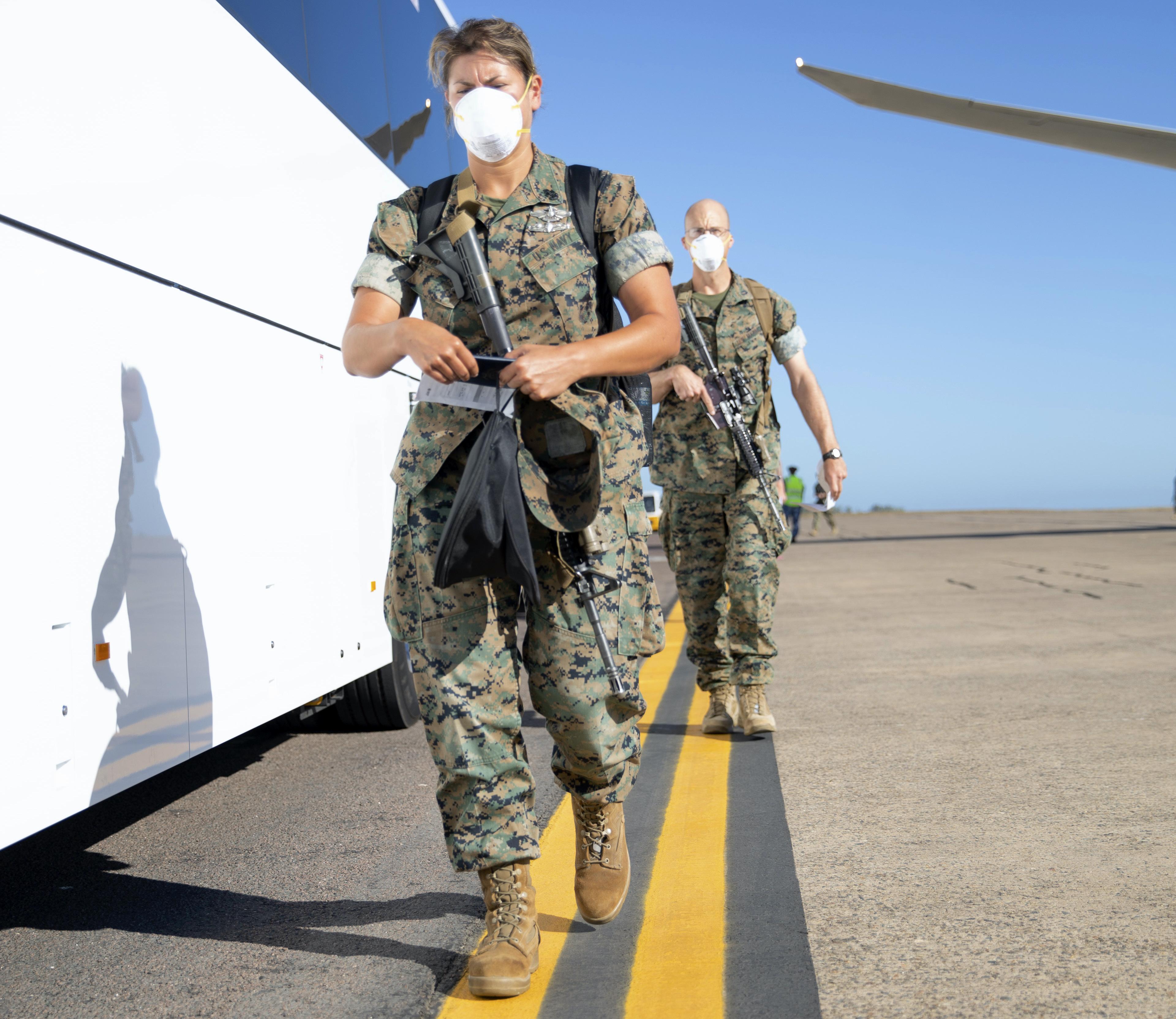 Flyover • U.S. Marines and Sailors • Marine Rotational Force – (MRF-D) • Darwin, Australia